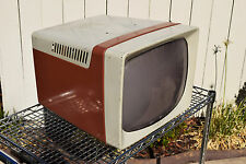 New listing Original 1957 Television Ge Hotpoint Portable Tv Cabinet Art Deco Prop 17T026