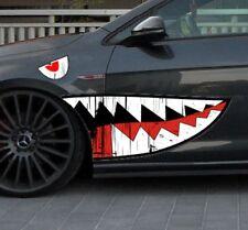 2x Autoaufkleber Army Shark Zähne vintage used Sticker Folie Shocker Tuning JDM