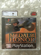 FACTORY SEALED MEDAL OF HONOR ORIGINAL RELEASE PLAYSTATION 1 UKG / VGA GRADED 90