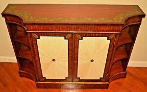 Antique Original Satinwood Adams Inlaid Sideboard Buffet Server Commode Cabinet