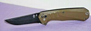 "GERBER FOLDING KNIFE 8971018A  ASSISTED ""HAUL"" OPENING~DESERT STORM TAN -- Great"