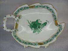 Herend porcelain APPONYI Vert piatto foglia verde