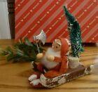 Vintage Christmas Sled Cardboard Putz Tree Cutter Spun Cotton Mache Japan