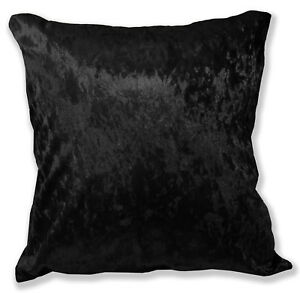 Mv36a Black Diamond Crushed Cotton Velvet Cushion Cover/Pillow Case Custom Size