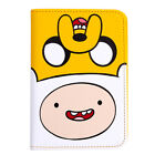 Adventure Time Finn Jake Faux Leather Passport Case Holder Cover Travel Wallet