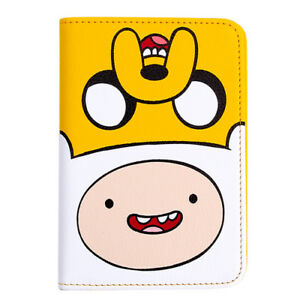 Adventure Time Finn&Jake Faux Leather Passport Case Holder Cover Travel Wallet