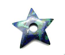 Anhänger Edelsteine Natur Azurit Malachit Stern grün blau Mineralien 40mm