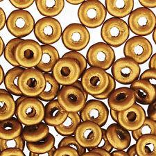 Brass Gold O-beads 3.8x1mm Czech Glass Mini Flat Ring 8 Gram