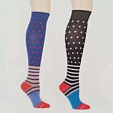 Dr. Motion Mild Compression 8-15mmHg Knee-Hi Women's Socks, 2 Pairs