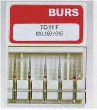50 Dental Taper Conical End Diamond Burs High Speed Handpiece MediumFG1.6 TC-11F