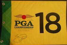 Jason Day Signed 2016 PGA Championship Flag w/COA Baltusrol