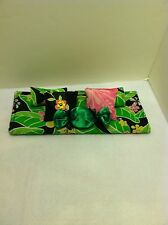 TROPICAL LEAVES DOUBLE BEDDING SET FOR BARBIE, MONSTER HIGH, OR BRATZ DOLLS
