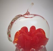 Lovely Hand Made Apple Paperweight by Maude & Bob St. Clair 1974