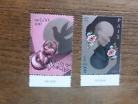 U.N. 2017 GENEVA DAY OF PEACE SET 2 MINT STAMPS
