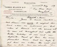 Memo. Thom. McLaren Steamship Brokers+Construct 1889 to MaryPort Letter Rf 35910