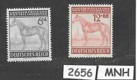 #2656    MNH stamp set / 1943 Third Reich / Vienna Gran Prix Horse Race  Germany