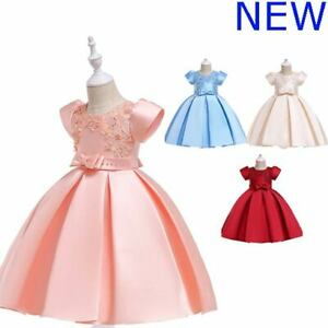 Dresses Tutu Kid Party Baby Princess Bridesmaid Flower Formal Wedding Girl Dress