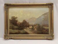 Gemälde Bauernhof im Gebirge