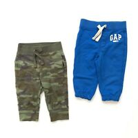 GAP Baby Toddler Boy Sweatpants Jogger Set Camo Blue 6-12 Months