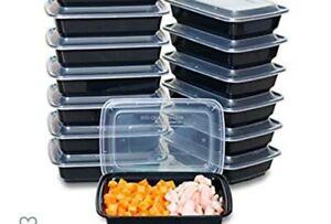 50 Set(100pcs) Meal Prep Disposable Reusable Microwaveable Lunchbox Cont. W Lids
