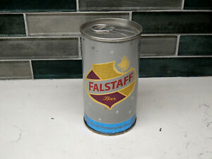 PRISTINE  BOTTOM  OPENED  FALSTAFF  TAB TOP BEER CAN(USBC#62-36) SAN JOSE, CA.