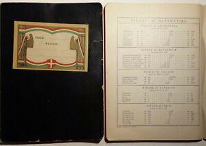 Coppia di quaderni nuovi anni '40 con copertina nera ed etichetta fascista (H18)