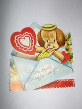 Vtg 1950s Puppy Dog in Envelope Play Postoffice Children's Valentine's Day Card