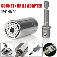 7-19mm Wrench Bushing Set Magic Grip Universal Socket Ratchet Drill Adapter Tool