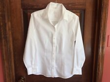 "Chico's Women's Sz 0.5 White ""No Iron"" Button Front Long Sleeve Blouse"