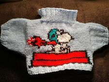 LOTTO N. HAND Knitted SNOOPY red baron ASSO Maglione per adattarsi Build A Bear