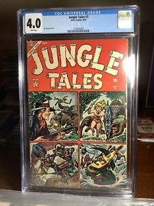 1954 Atlas Jungle Tales #1 CGC 4.0 White Pages Jann of the Jungle 1st appearance