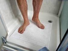 White Luxury Stay-Put Anti-Microbial Anti-Slip Square Shower Mat 51x51cm
