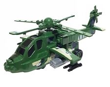 Spielzeug Army Air Heli Helikopter Helicopter Auto Selbstfahrend LED Licht Sound