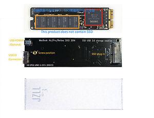 MacBook Air Pro Retina 2013 2014 2015 SSD Case HDD box, usb3.0 Interface,unique!