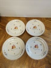 """NEWCOR """"OUR COUNTRY"""" STONEWARE 7 1/2"""" Bread  Salad Dessert Plate SET of 4"""