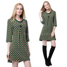Women's Polyester Casual Shirt Dresses Plus Size
