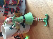 Vintage Christmas Glass Elf ornament