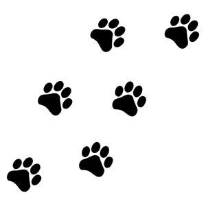 "1 - 3"" PAW PRINTS Vinyl Decal Sticker Car Laptop Dog Cat Puppy Kitty Pet Rescue"