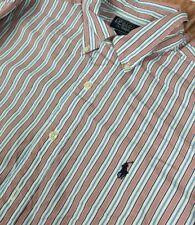 Ralph Lauren Men Terrance Long Sleeves Button Down Brown Striped Shirt Size 16.5