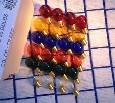 BOX of 24 new C9 multicolor color mix 10w round Christmas LIGHT BULB 130V globe