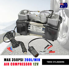 NEW 12V AIR COMPRESSOR 350PSI 200L 4WD 4x4 CAR TYRE INFLATOR PORTABLE KIT SUV