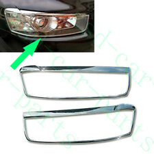 2x For Chevrolet Captiva 2011-15 Chrome Silvery Front LH+RH Headlight Cover Trim
