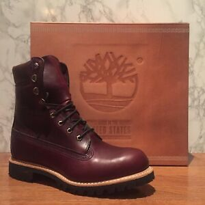 $500 TIMBERLAND BURGUNDY HORWEEN LEATHER 8 INCH BOOT MADE IN USA A1JXM648 SZ:9