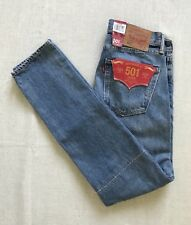 NWT MENS 31X32 LEVIS 501 T TAPERED LEG FUSED PATCHWORK DENIM BLUE JEANS
