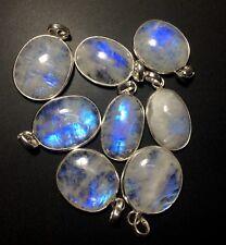 Clearance 8 Rainbow Moonstone Silver Overlay Baby Pendants Wholesale IMG 5876