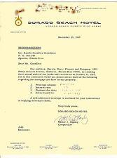 Vintage Commercial Letter / Dorado Beach Hotel / Puerto Rico / 1967
