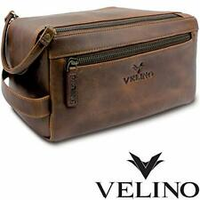 Velino Handmade Genuine Buffalo Leather Unisex Toiletry Bag