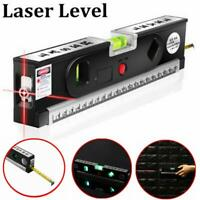 Laser Level Rule ABS Measuring Tape 3 Line Modes Spirit Horizontal Vertical 4-5m