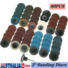 60Pcs 2Inch Roloc Quick Change Discs Sanding With 1/4 Inch Holder Die Grinder AU