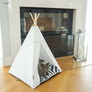 Glamour Teepee cat bed - Zebra, cat tipi with pillow*luxury cat*cat tent